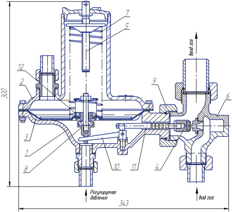 Регулятор давления газа РД-32, РД-32М